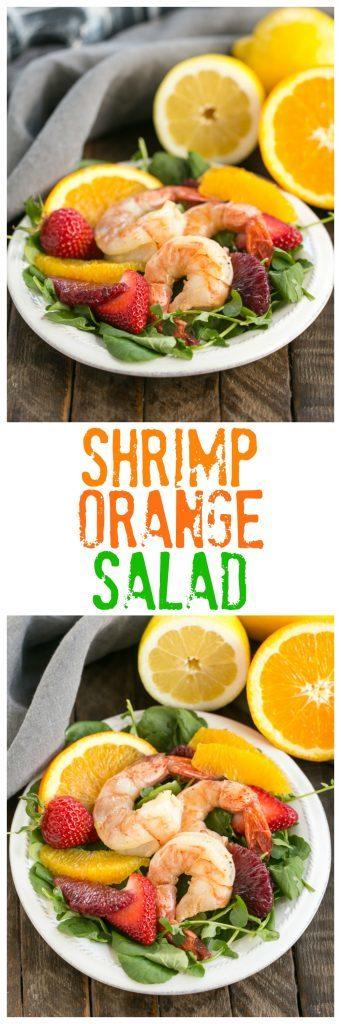 Shrimp & Orange Salad with Citrus Vinaigrette text and photos collage
