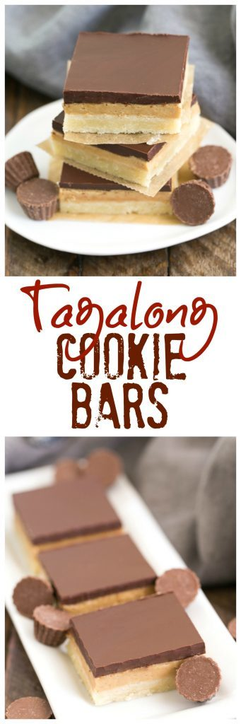 Tagalong Cookie Bars | All the amazing flavors of our favorite Peanut Butter, & Chocolate Girl Scout cookie!
