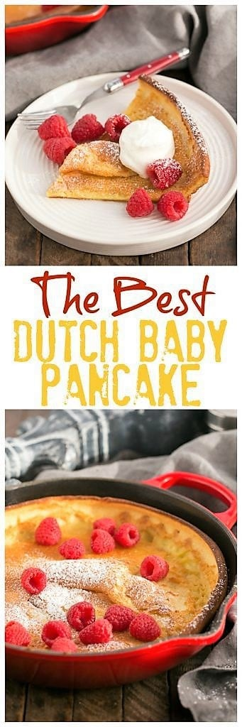 Best Dutch Baby Pancake pinterest collage