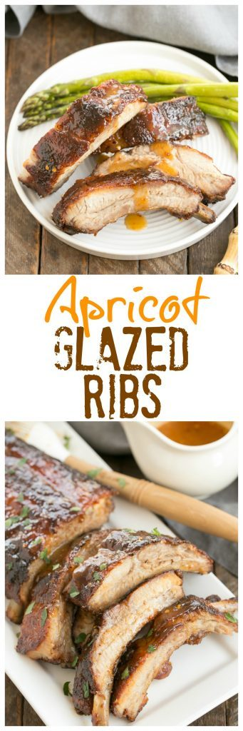 Apricot Glazed Baby Back Ribs collage