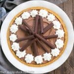 Chocolate Cream Pie with Graham Cracker Crust