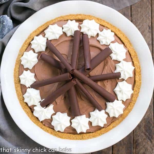 Chocolate Cream Pie   A dreamy, rich chocolate filling nestled in a graham cracker crust!