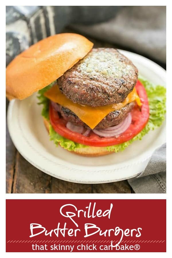 Grilled Butter Burgers Pinterest collage