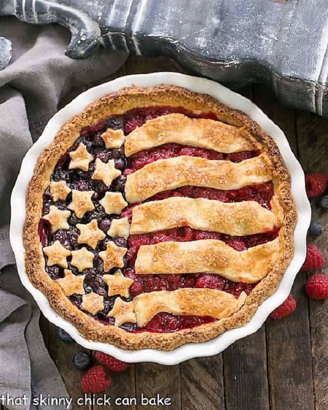 Patriotic Stars and Stripes Berry Pie featured image