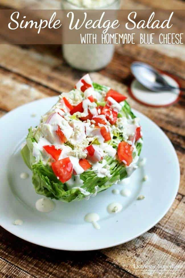 Simple Wedge Salad on a white plate