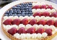 American Flag Fruit Tart #SundaySupper