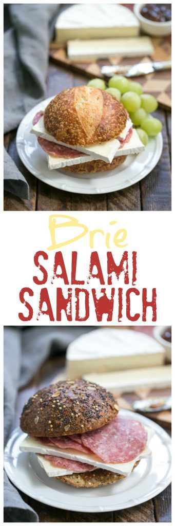 Brie Jam and Salami Sandwich   A quick and scrumptious lunch or snack!