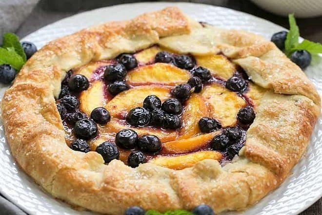 Peach Blueberry Galette featured image