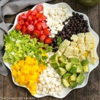 Mexican Chopped Salad with Cilantro Vinaigrette | A marvelous entree or side salad!