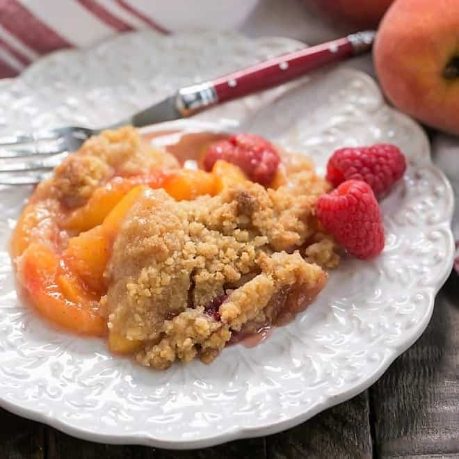 Peach Raspberry Crisp featured image