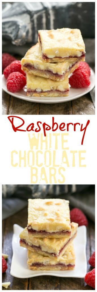 White Chocolate Raspberry Bars   Buttery dough flavored with white chocolate, a thin layer of raspberry jam plus more dough and white chocolate chips bake into a dreamy bar cookie!