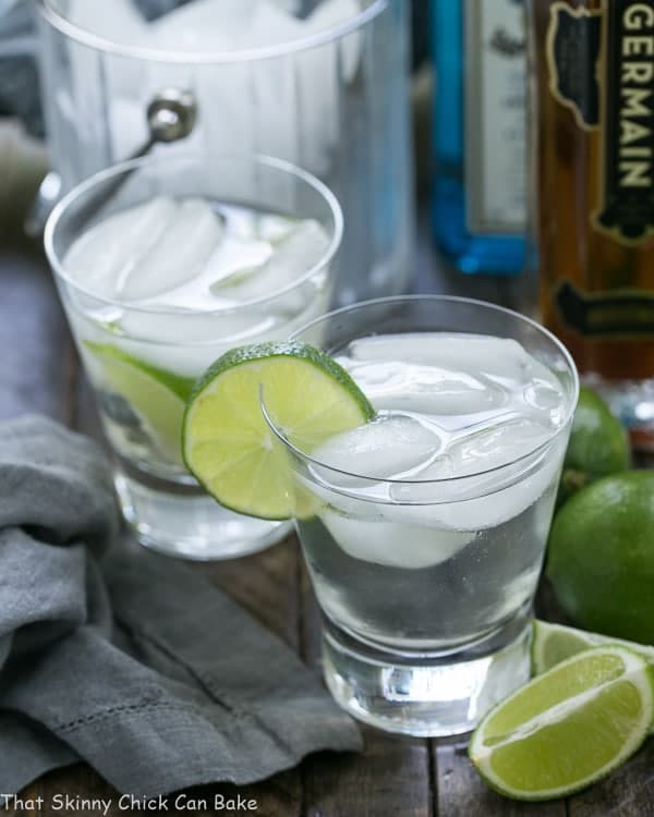 St Germain Gin And Tonic Cocktail That Skinny Chick Can Bake