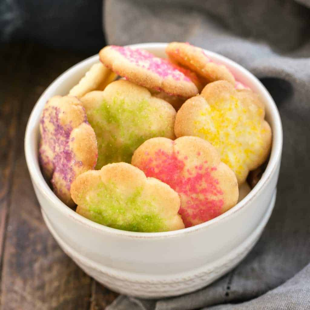 Classic Vanilla Spritz Cookies   Simple, scrumptious buttery cookies that can be created in numerous shapes and decorated for any occasion!