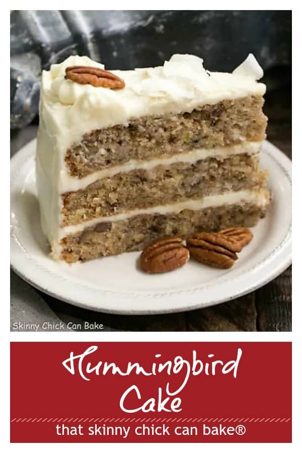 Classic Hummingbird Cake with Coconut Pinterest collage