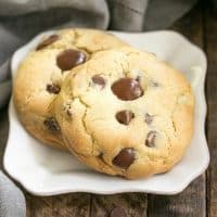 Levain Bakery Chocolate Chip Cookies | Huge chocolate chip cookies like the famous Levain Bakery cookies!