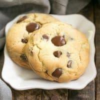 Levain Bakery Chocolate Chip Cookies | Huge chocolate chip cookies like the famous Levain Bakery cookies!