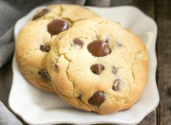 Levain Bakery Chocolate Chip Cookies   Huge chocolate chip cookies like the famous Levain Bakery cookies!