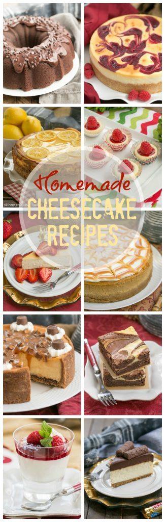 Unique Homemade Cheesecake Desserts pin collage