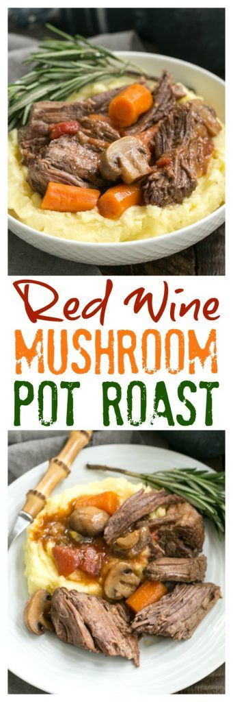 Pot Roast with Mushrooms, Tomatoes & Red Wine | This is one unforgetable pot roast with an amazing depth of flavor!