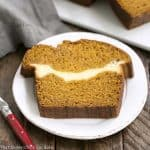Cream Cheese Filled Pumpkin Bread #SundaySupper