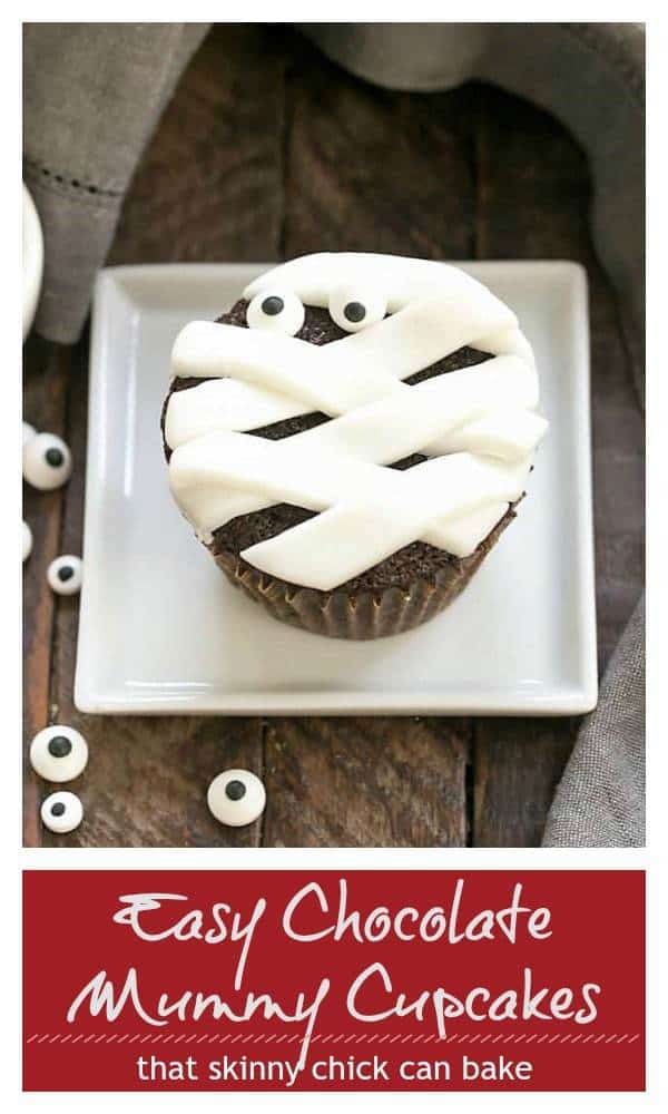 Chocolate Mummy Cupcakes pinterest collage