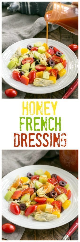 Easy Honey French Salad Dressing | Lighter and tastier than store bought! #Frenchdressing #homemade