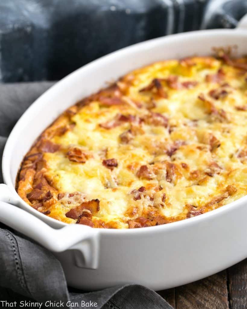 Cauliflower Bacon Gratin #SundaySupper - That Skinny Chick ...