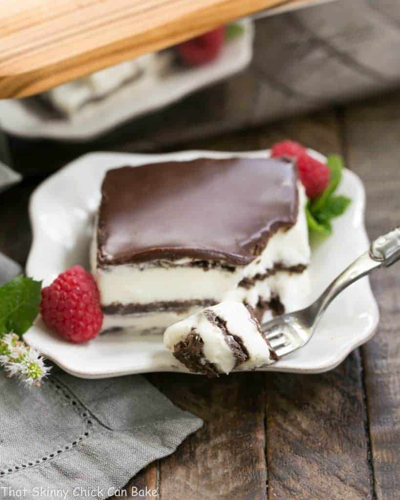 No Bake Chocolate Lasagna   A decadent layered dessert with chocolate graham crackers, creamy custard, chocolate ganache and no Cool Whip or oven needed!