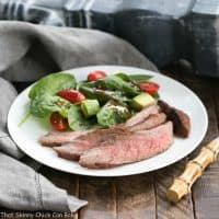Red Wine, Soy, Balsamic Marinated Flank Steak | Loads of flavor infused into every bite! A family favorite.