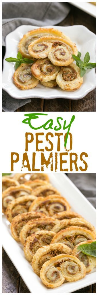 Easy Pesto Palmiers | Just 4 ingredients and you'll steal the show with these scrumptious appetizers! #palmiers #pesto