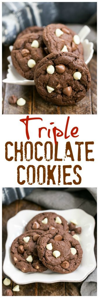 Triple Chocolate Fudge Cookies That Skinny Chick Can Bake