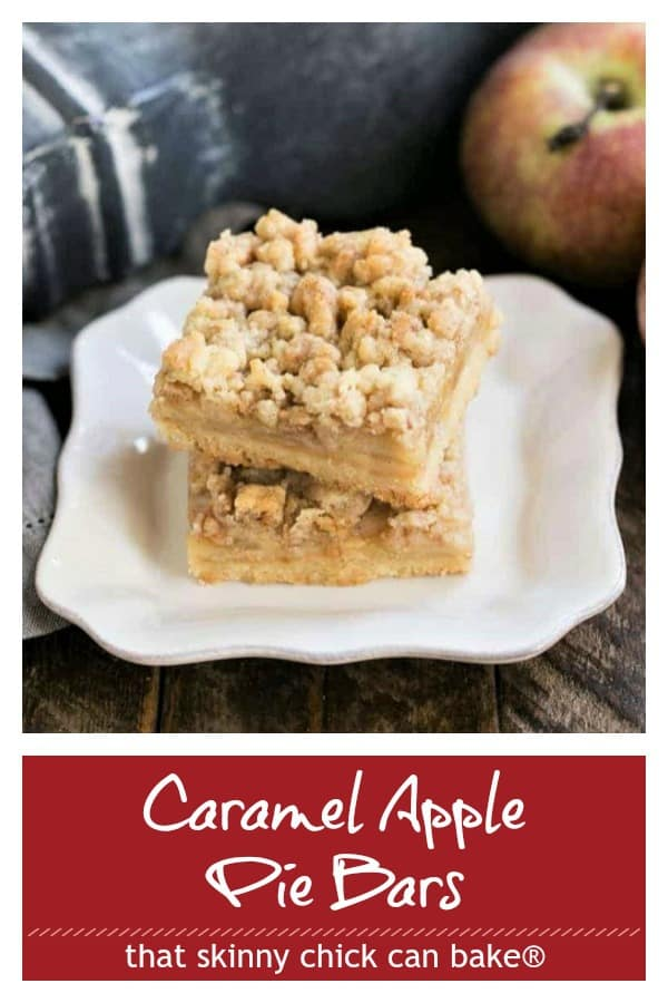 Caramel Apple Pie Bars pinterest collage