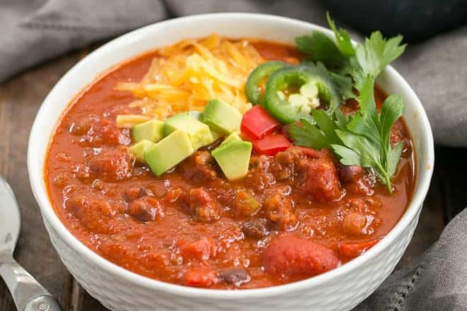 Easy Black Bean Chili | Perfect dinner on a cold night or for game day!