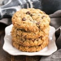 Loaded Cowboy Cookies Recipe | Chewy, buttery cookies with oats, chocolate chips, pecans and coconut