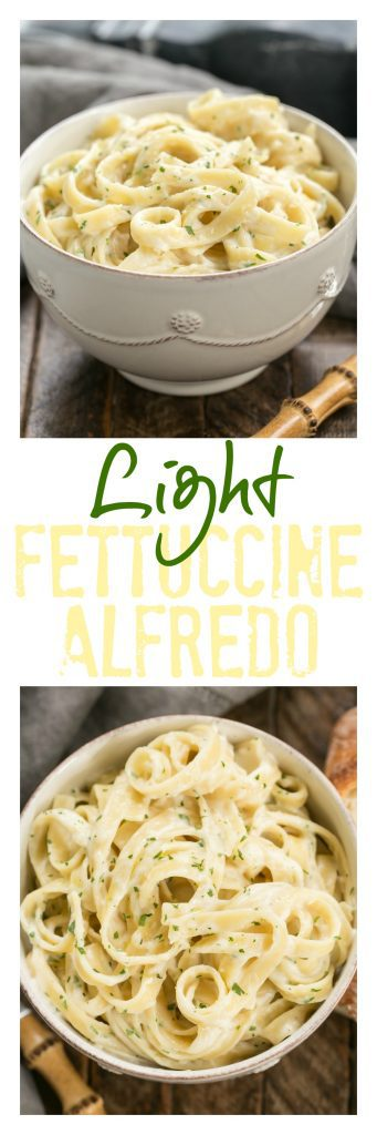 ... Light Fettuccine Alfredo | A Creamy Flavorful, Lightened Up Fettuccine  Alfredo That Tastes Amazing!