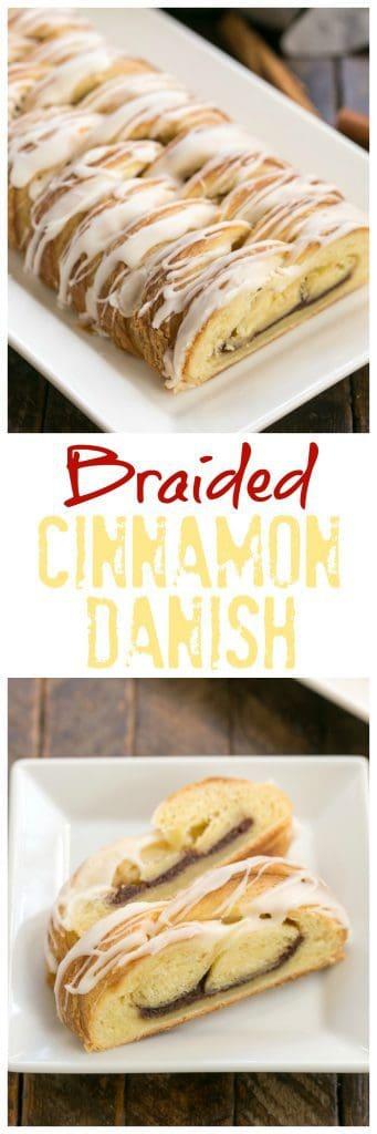 Braided Cinnamon Danish with Laminated Dough | An exquisite breakfast treat