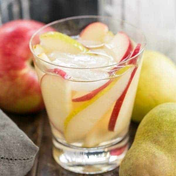 Apple Cider Sangria   An autumnal white wine sangria flavored with cider and pear brandy!