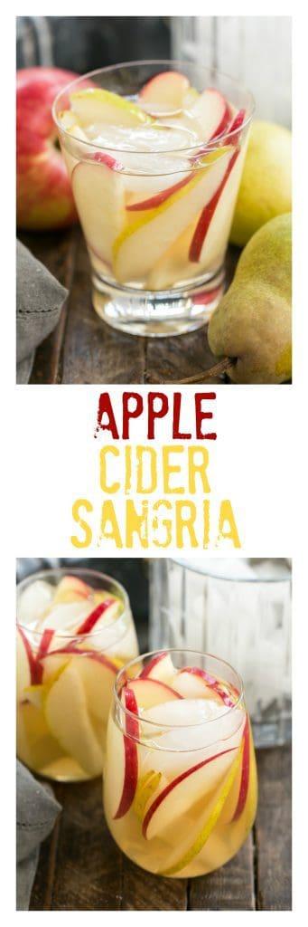 Apple Cider Sangria Pinterest collage