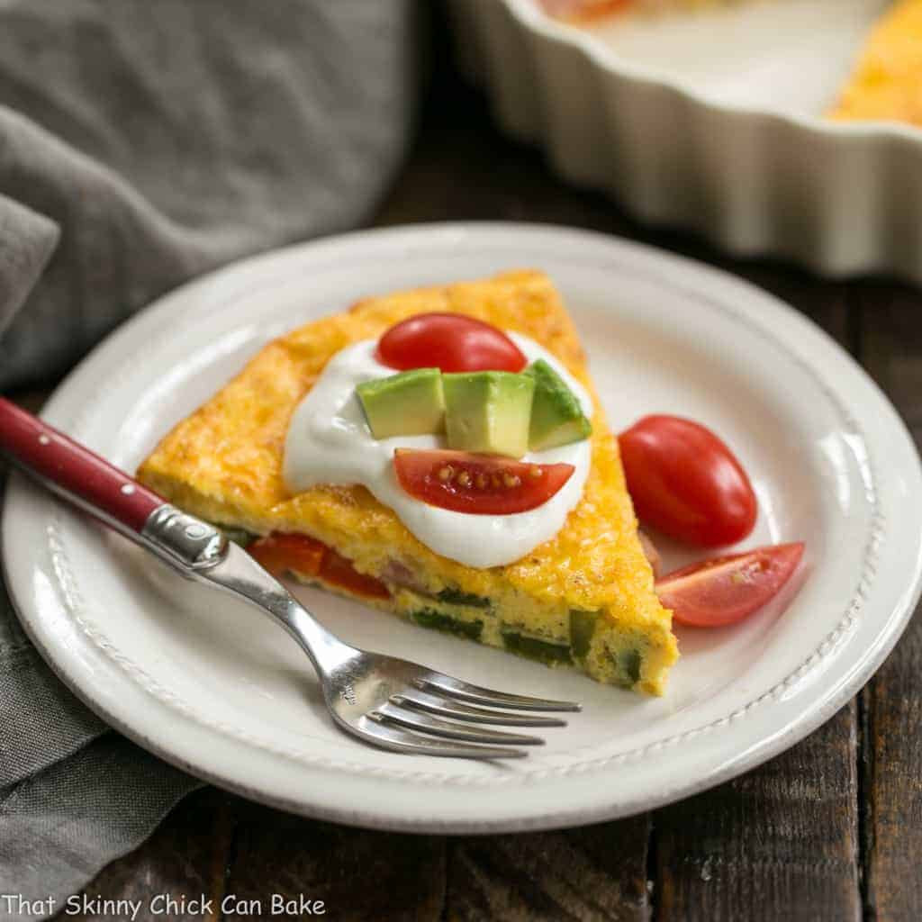 Baked Denver Omelet   A simple, scrumptious, easy to make baked ham and vegetable omelet!