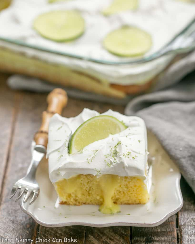 Easy Margarita Poke Cake | A couple shortcuts make this decadent dessert a breeze to make!