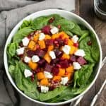 Roasted Fall Vegetable Salad with Maple Balsamic Vinaigrette