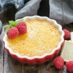 White Chocolate Crème Brûlée | An ultra creamy custard infused with white chocolate and topped with burnt sugar