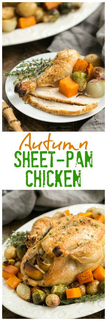 Sheet Pan Chicken with Roasted Fall Vegetables | One pan; one delicious meal!