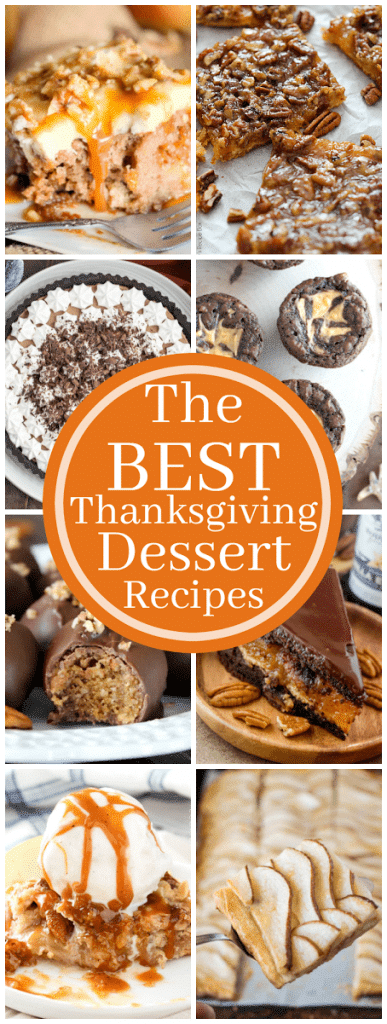 The Best Thanksgiving Dessert Recipes | A roundup of amazing holiday desserts from some of the top food bloggers