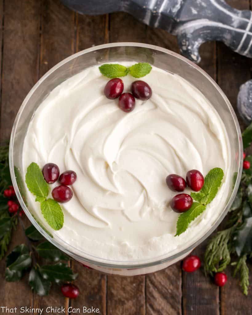 Cranberry Cheesecake Trifle | Festive, seasonal and a delicious twist on the classic English trifle