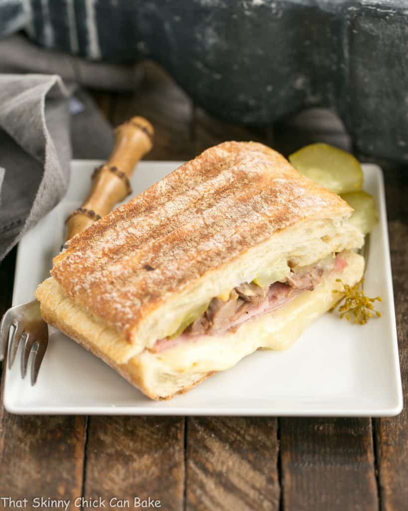 "Ciabatta Cubano Sandwich Recipe | An out of this world ""grilled pork and cheese"" sandwich!"