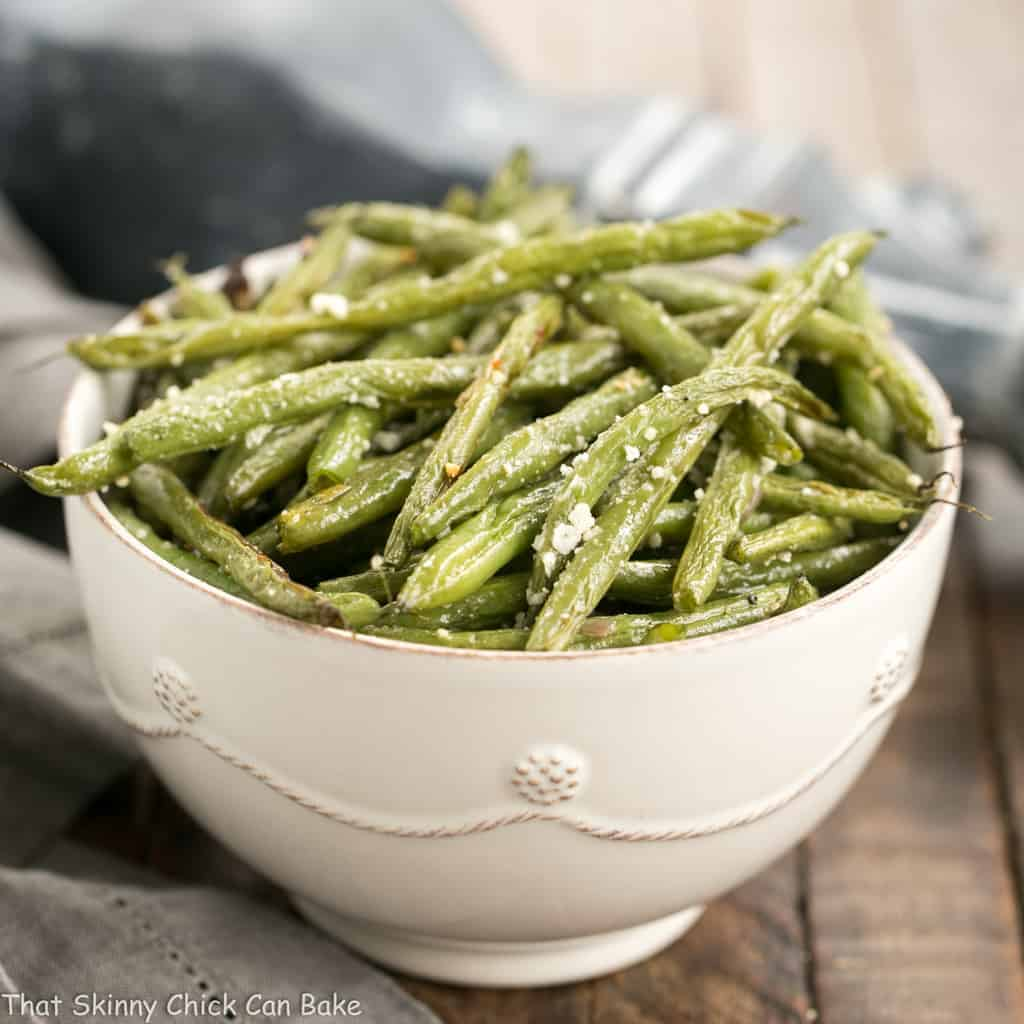 Garlic Parmesan Roasted Green Beans   An easy recipe to bring the best flavors out of fresh green beans