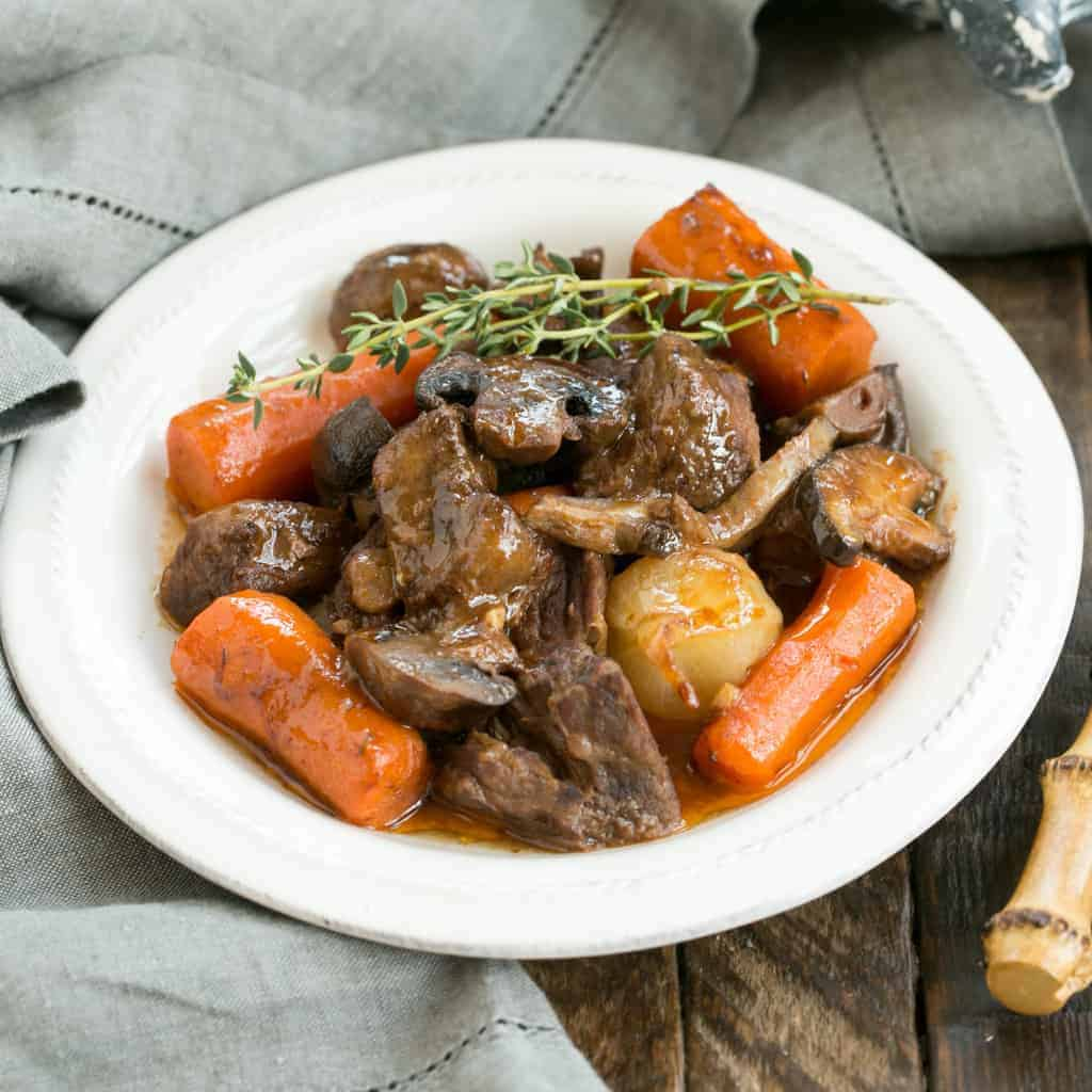 Slow Cooker Beef Stew with Mushrooms   Marvelous comfort food where the crock pot does most of the work!