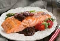 Strawberry Glazed Salmon #SundaySupper