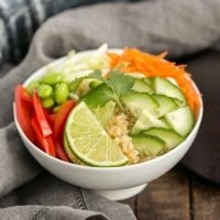 Thai Vegetable Quinoa Bowl | A healthy, flavor packed meal!